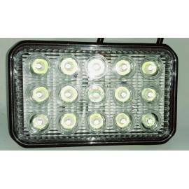 Lampa robocza diodowa prostokątna, 15 - led x 3W